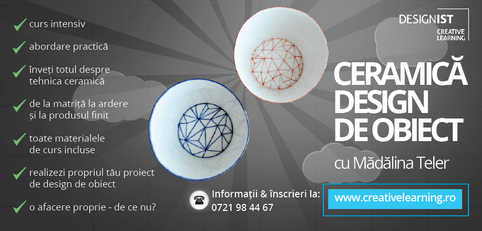 Vizual Curs Ceramica design de obiect