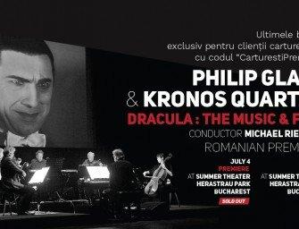 PHILIP GLASS & KRONOS QUARTET – DRACULA : MUZICA ȘI FILMUL, în premieră în România