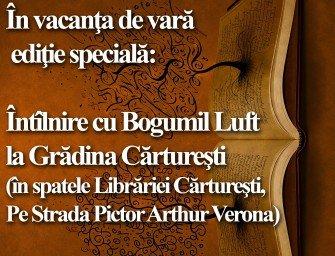 Bogumil Luft la Cafeneaua critică, ediţie specială!