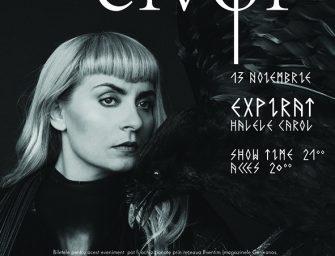 Concertul cântăreţei feroeze Eivor  de la Sala Radio se mută în noul club Expirat-Halele Carol!