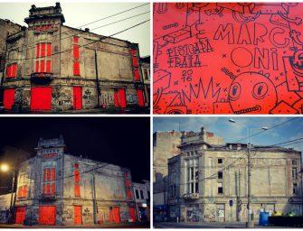 Marconi Playground: Intervenție PISICA PĂTRATĂ pe fațada fostului Cinema Dacia