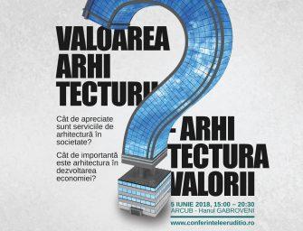 """Cea de-a doua ediţie a Conferinţelor Eruditio """"Valoarea arhitecturii în arhitectura valorii"""" începe în curând"""