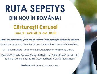 Ruta Sepetys, din nou în România.
